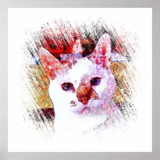 CAT PORTRAIT ANGEL Poster