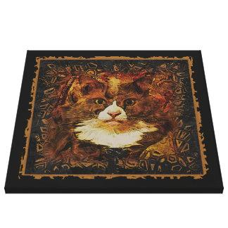 CAT PORTRAIT KATIE Wrapped Canvas Print