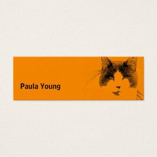 Cat Portrait Mini Business Card