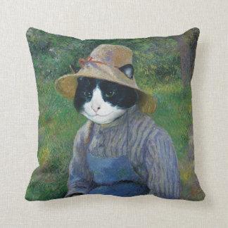 Cat Portrait Pillow