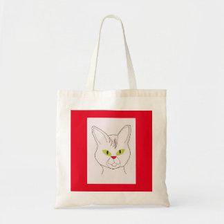 Cat portrait tote bag