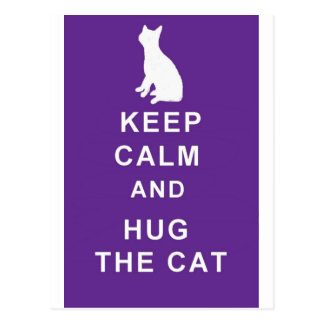 Cat postcard Keep Calm and Hug the Cat
