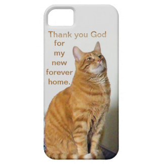 Cat Prayer Thank you God For My New Forever Home iPhone SE/5/5s Case