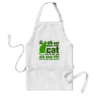 Cat_Print Adult Apron
