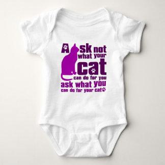 Cat_Print Baby Bodysuit