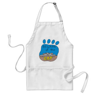 Cat Print Image Adult Apron