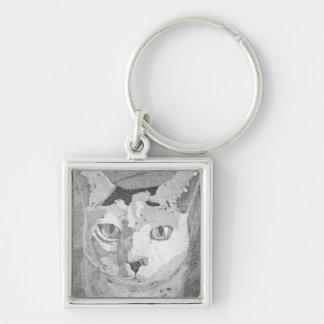 Cat Print Key Chain