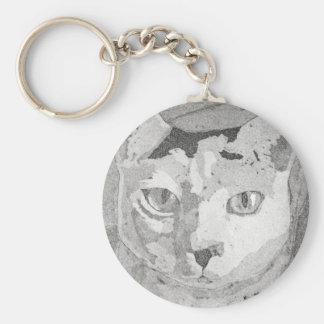 Cat Print Keychain