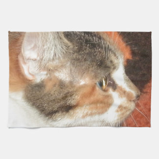 Cat Profile Kitchen Towel