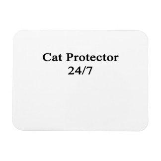 Cat Protector 24/7 Rectangular Photo Magnet