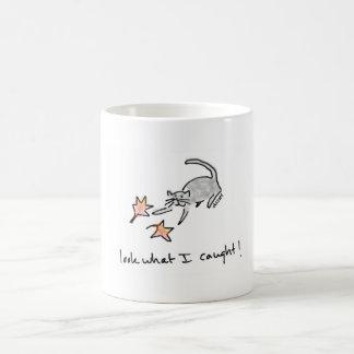 Cat Proud to Catch Leaves Mug