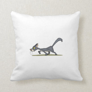 Cat Prowling Throw Pillow
