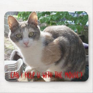 CAT: ¿Puedo ayudar a U con el ratón? Alfombrilla De Ratón