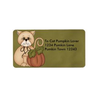 Cat Pumpkin Address Avery Label