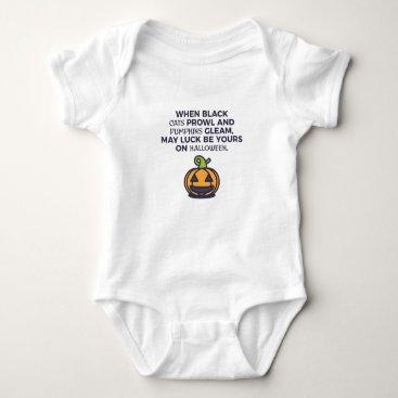 Halloween Themed Cat Pumpkins Halloween Design Baby Bodysuit