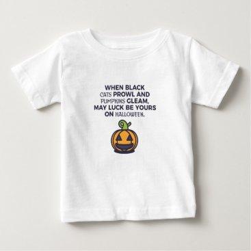 Halloween Themed Cat Pumpkins Halloween Design Baby T-Shirt