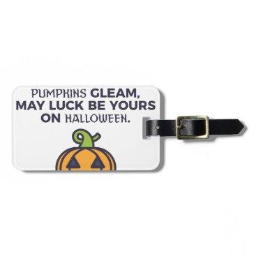 Halloween Themed Cat Pumpkins Halloween Design Bag Tag