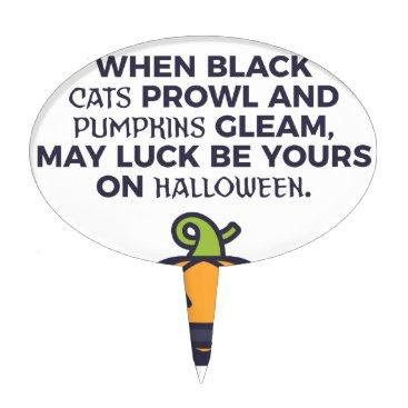 Halloween Themed Cat Pumpkins Halloween Design Cake Topper