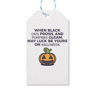 Halloween Themed Cat Pumpkins Halloween Design Gift Tags