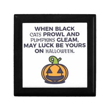 Halloween Themed Cat Pumpkins Halloween Design Jewelry Box