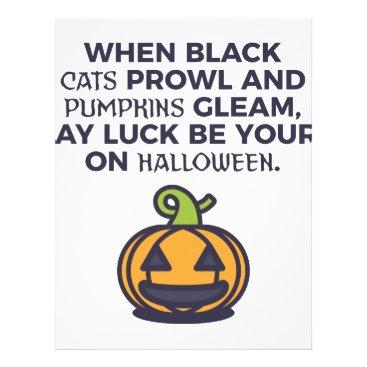Halloween Themed Cat Pumpkins Halloween Design Letterhead