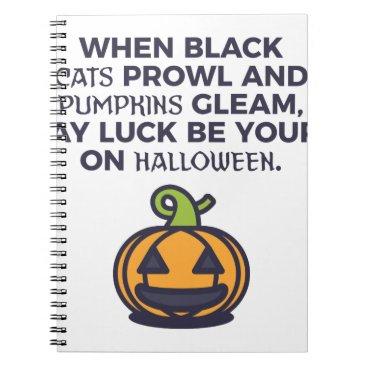 Halloween Themed Cat Pumpkins Halloween Design Notebook