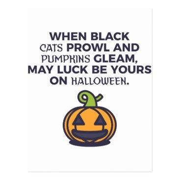 Halloween Themed Cat Pumpkins Halloween Design Postcard