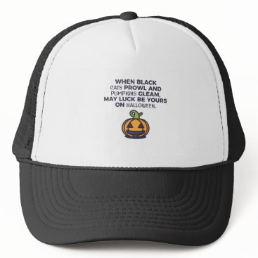 Halloween Themed Cat Pumpkins Halloween Design Trucker Hat