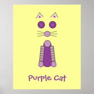 CAT púrpura Posters