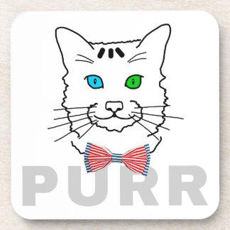 Cat Purr Beverage Coaster
