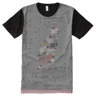 Cat Purr Pattern Tee All-Over Print Shirt