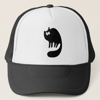 Cat Purring Black Look Up There Eyes Trucker Hat