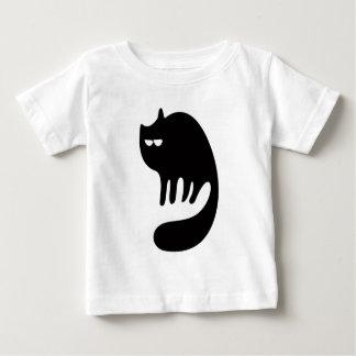 Cat Purring Black Satisfied Smug Eyes Tshirt