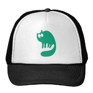 Cat Purring Green Topsy Turvey Eyes Cap