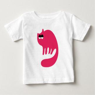 Cat Purring Pink Satisfied Smug Eyes Tee Shirt
