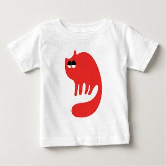 Cat Purring Red Satisfied Smug Eyes Tshirt