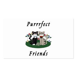 Cat Purrrfect Friends Business Card