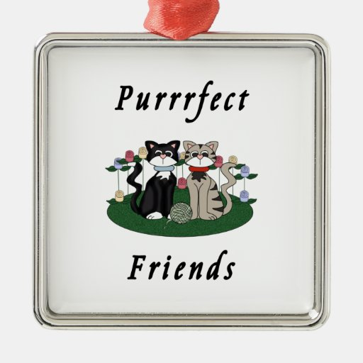Cat Purrrfect Friends Christmas Ornament