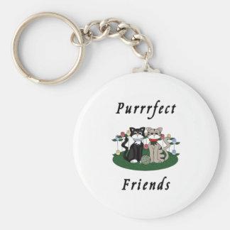 Cat Purrrfect Friends Key Chain
