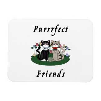 Cat Purrrfect Friends Magnet