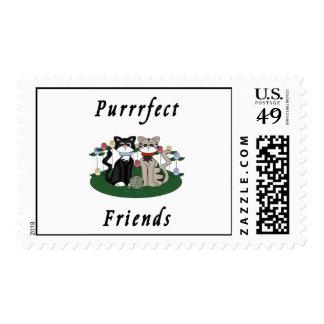 Cat Purrrfect Friends Postage Stamp