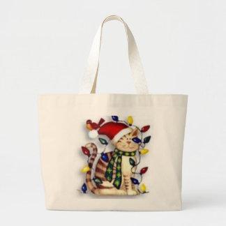 cat PURSE Large Tote Bag