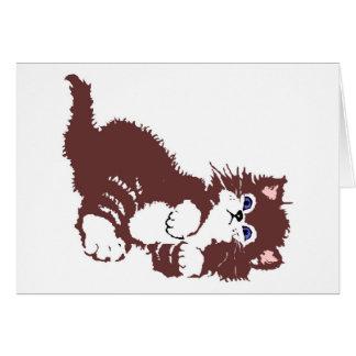 cat,puss,pussycat greeting card