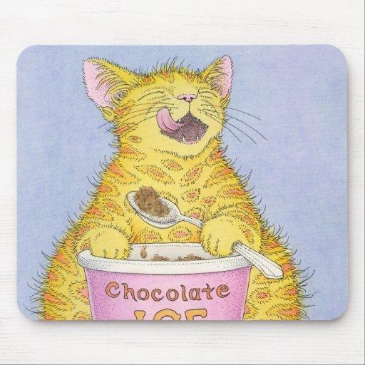 CAT que come el helado Tapetes De Raton