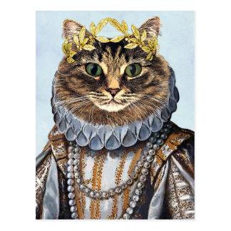 Cat Queen 2 Postcard