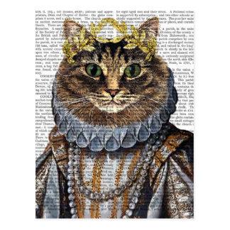Cat Queen Postcard