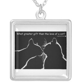 cat quote necklace