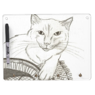 Cat Ragdoll Portrait Dry Erase Board