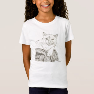 Cat Ragdoll Portrait Girls Baby Doll T-Shirt
