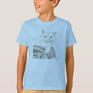 Cat Ragdoll Portrait Kids Basic T-Shirt